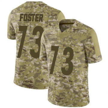 Youth Nike Pittsburgh Steelers Ramon Foster Camo 2018 Salute to Service Jersey - Limited