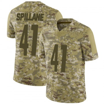 Youth Nike Pittsburgh Steelers Robert Spillane Camo 2018 Salute to Service Jersey - Limited