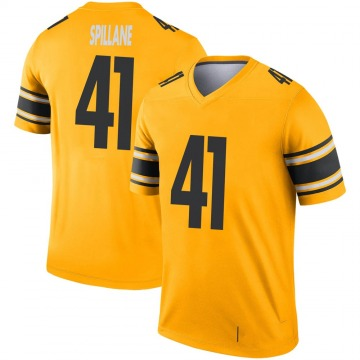 Youth Nike Pittsburgh Steelers Robert Spillane Gold Inverted Jersey - Legend