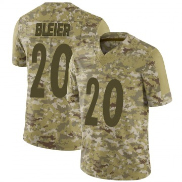 Youth Nike Pittsburgh Steelers Rocky Bleier Camo 2018 Salute to Service Jersey - Limited