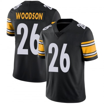Youth Nike Pittsburgh Steelers Rod Woodson Black 100th Vapor Jersey - Limited