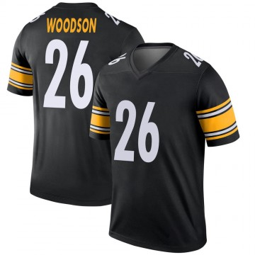 Youth Nike Pittsburgh Steelers Rod Woodson Black Jersey - Legend