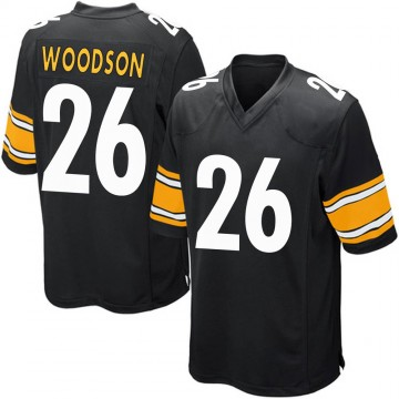 Youth Nike Pittsburgh Steelers Rod Woodson Black Team Color Jersey - Game