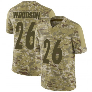 Youth Nike Pittsburgh Steelers Rod Woodson Camo 2018 Salute to Service Jersey - Limited