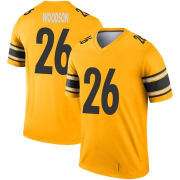 Youth Nike Pittsburgh Steelers Rod Woodson Gold Inverted Jersey - Legend