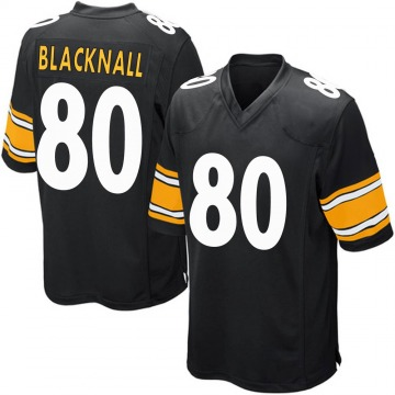 Youth Nike Pittsburgh Steelers Saeed Blacknall Black Team Color Jersey - Game