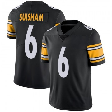 Youth Nike Pittsburgh Steelers Shaun Suisham Black 100th Vapor Jersey - Limited