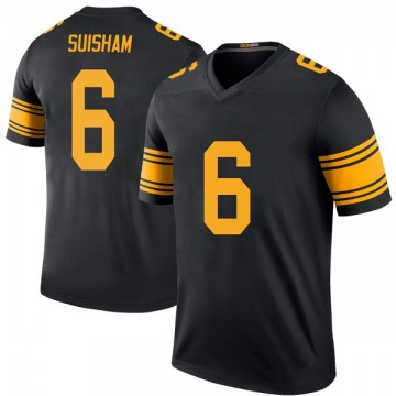 Youth Nike Pittsburgh Steelers Shaun Suisham Black Color Rush Jersey - Legend