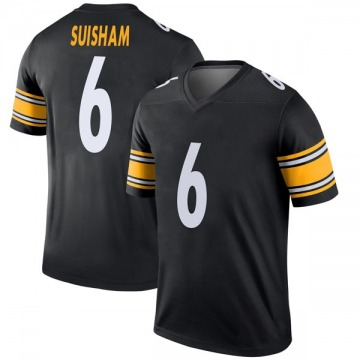 Youth Nike Pittsburgh Steelers Shaun Suisham Black Jersey - Legend