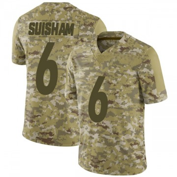 Youth Nike Pittsburgh Steelers Shaun Suisham Camo 2018 Salute to Service Jersey - Limited
