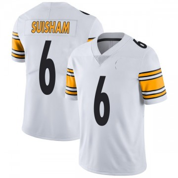 Youth Nike Pittsburgh Steelers Shaun Suisham White Vapor Untouchable Jersey - Limited