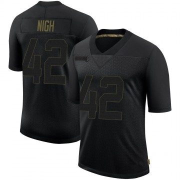 Youth Nike Pittsburgh Steelers Spencer Nigh Black 2020 Salute To Service Jersey - Limited