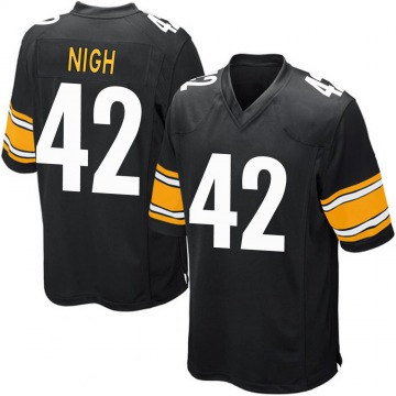 Youth Nike Pittsburgh Steelers Spencer Nigh Black Team Color Jersey - Game