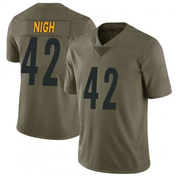 Youth Nike Pittsburgh Steelers Spencer Nigh Green 2017 Salute to Service Jersey - Limited