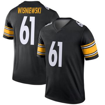 Youth Nike Pittsburgh Steelers Stefen Wisniewski Black Jersey - Legend