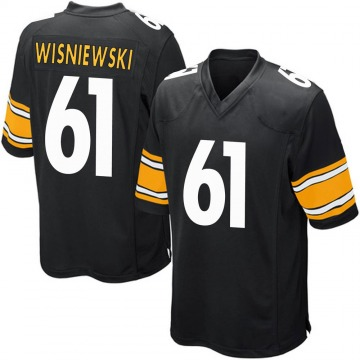 Youth Nike Pittsburgh Steelers Stefen Wisniewski Black Team Color Jersey - Game