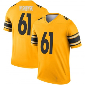 Youth Nike Pittsburgh Steelers Stefen Wisniewski Gold Inverted Jersey - Legend