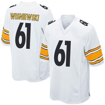 Youth Nike Pittsburgh Steelers Stefen Wisniewski White Jersey - Game