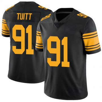 Youth Nike Pittsburgh Steelers Stephon Tuitt Black Color Rush Jersey - Limited