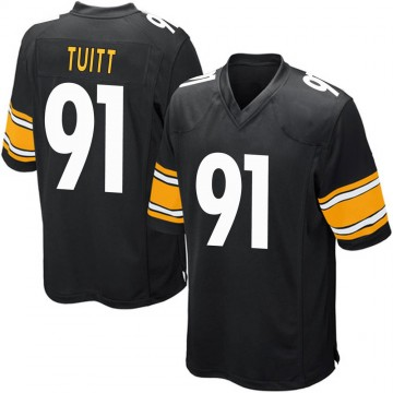 Youth Nike Pittsburgh Steelers Stephon Tuitt Black Team Color Jersey - Game