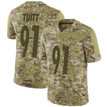 Youth Nike Pittsburgh Steelers Stephon Tuitt Camo 2018 Salute to Service Jersey - Limited