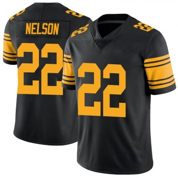 Youth Nike Pittsburgh Steelers Steven Nelson Black Color Rush Jersey - Limited