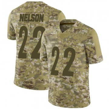 Youth Nike Pittsburgh Steelers Steven Nelson Camo 2018 Salute to Service Jersey - Limited