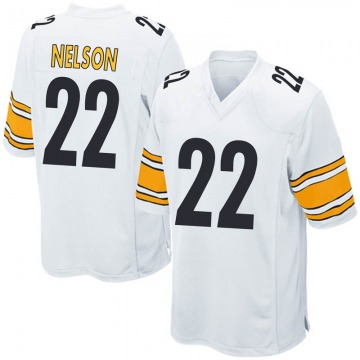 Youth Nike Pittsburgh Steelers Steven Nelson White Jersey - Game
