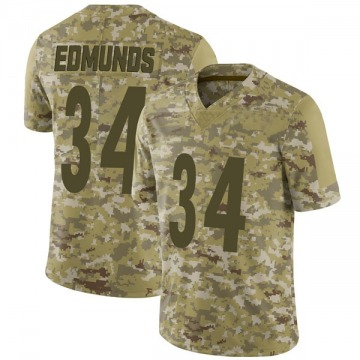 Youth Nike Pittsburgh Steelers Terrell Edmunds Camo 2018 Salute to Service Jersey - Limited