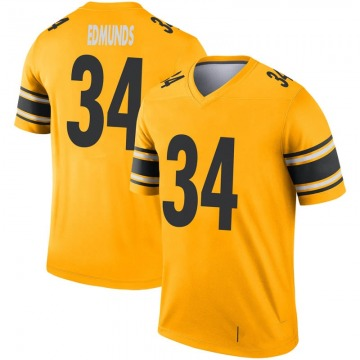 Youth Nike Pittsburgh Steelers Terrell Edmunds Gold Inverted Jersey - Legend