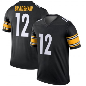 Youth Nike Pittsburgh Steelers Terry Bradshaw Black Jersey - Legend