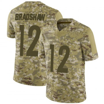 Youth Nike Pittsburgh Steelers Terry Bradshaw Camo 2018 Salute to Service Jersey - Limited