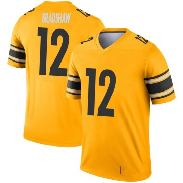 Youth Nike Pittsburgh Steelers Terry Bradshaw Gold Inverted Jersey - Legend