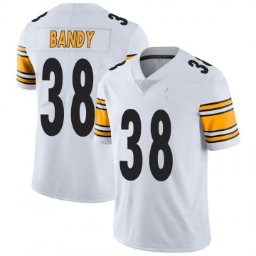 Youth Nike Pittsburgh Steelers Trajan Bandy White Vapor Untouchable Jersey - Limited