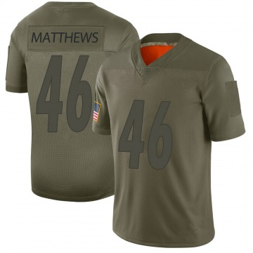 Youth Nike Pittsburgh Steelers Tray Matthews Camo 2019 Salute to Service Jersey - Limited
