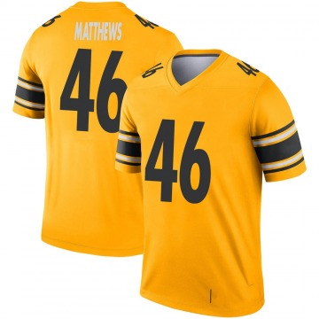 Youth Nike Pittsburgh Steelers Tray Matthews Gold Inverted Jersey - Legend