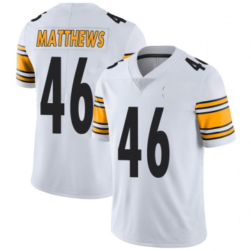 Youth Nike Pittsburgh Steelers Tray Matthews White Vapor Untouchable Jersey - Limited