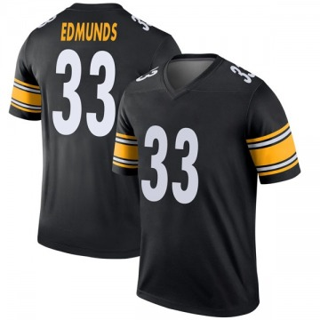 Youth Nike Pittsburgh Steelers Trey Edmunds Black Jersey - Legend