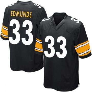 Youth Nike Pittsburgh Steelers Trey Edmunds Black Team Color Jersey - Game