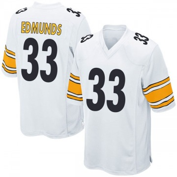 Youth Nike Pittsburgh Steelers Trey Edmunds White Jersey - Game
