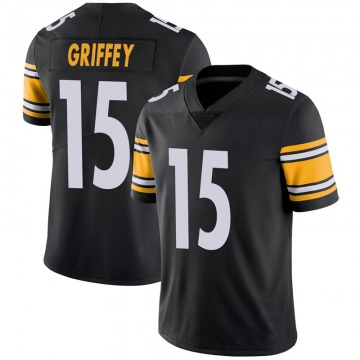 Youth Nike Pittsburgh Steelers Trey Griffey Black 100th Vapor Jersey - Limited