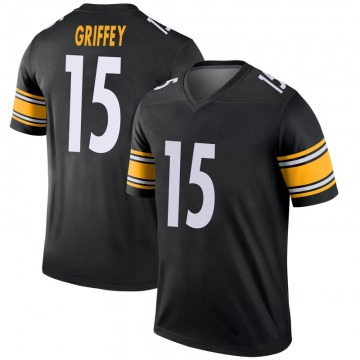 Youth Nike Pittsburgh Steelers Trey Griffey Black Jersey - Legend