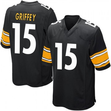 Youth Nike Pittsburgh Steelers Trey Griffey Black Team Color Jersey - Game