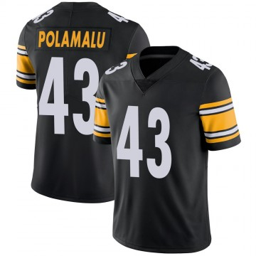 Youth Nike Pittsburgh Steelers Troy Polamalu Black 100th Vapor Jersey - Limited