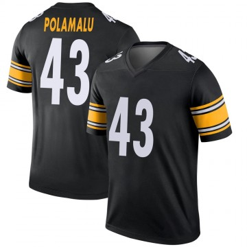 Youth Nike Pittsburgh Steelers Troy Polamalu Black Jersey - Legend