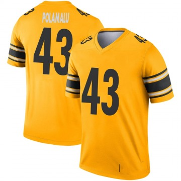Youth Nike Pittsburgh Steelers Troy Polamalu Gold Inverted Jersey - Legend