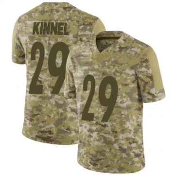 Youth Nike Pittsburgh Steelers Tyree Kinnel Camo 2018 Salute to Service Jersey - Limited