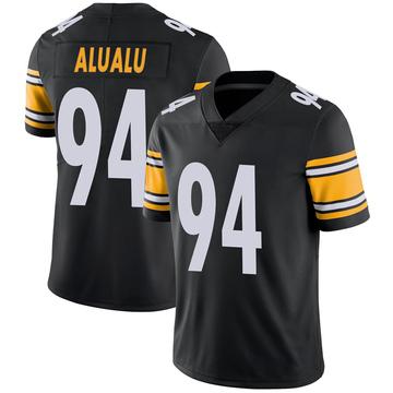 Youth Nike Pittsburgh Steelers Tyson Alualu Black 100th Vapor Jersey - Limited