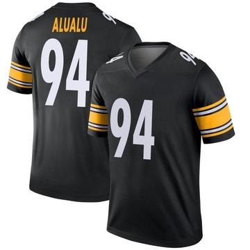 Youth Nike Pittsburgh Steelers Tyson Alualu Black Jersey - Legend