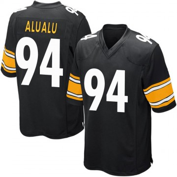 Youth Nike Pittsburgh Steelers Tyson Alualu Black Team Color Jersey - Game